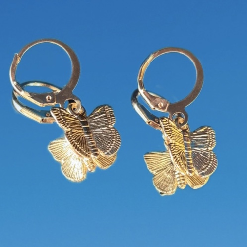 Product Image 1 - Gold Butterfly Earrings! These earrings