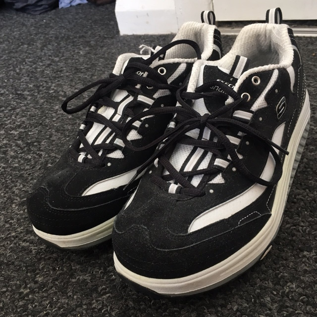 c1ff5adc @emilydowsett11. 14 days ago. Brighton, United Kingdom. Brand new never  worn. Chunky Vintage skechers shape ups with platform. Black ...