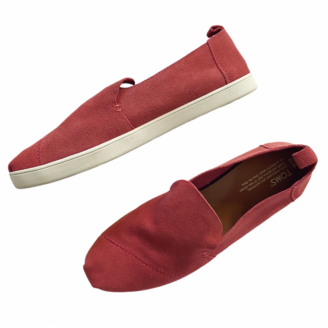 Product Image 1 - Toms Pinkish Red Suede Leather