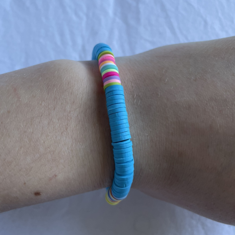 Product Image 1 - blue bracelet🤍 made with stretchy strong
