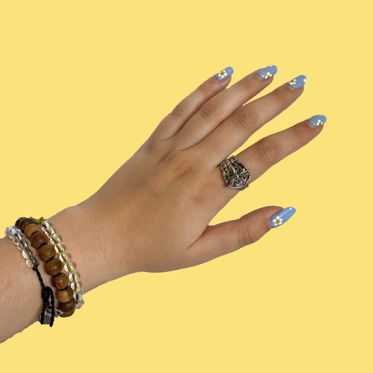 Product Image 1 - silver bee ring 🐝🍃  brand new