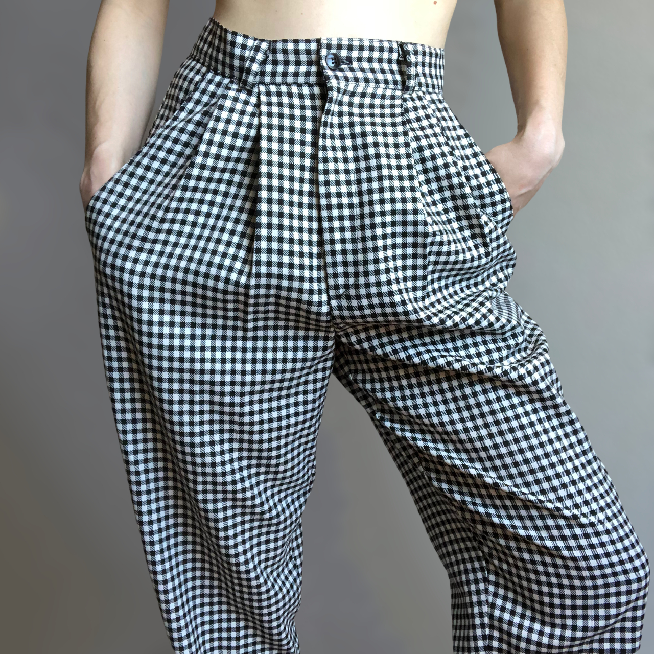 Product Image 1 - High-waisted vintage black and white