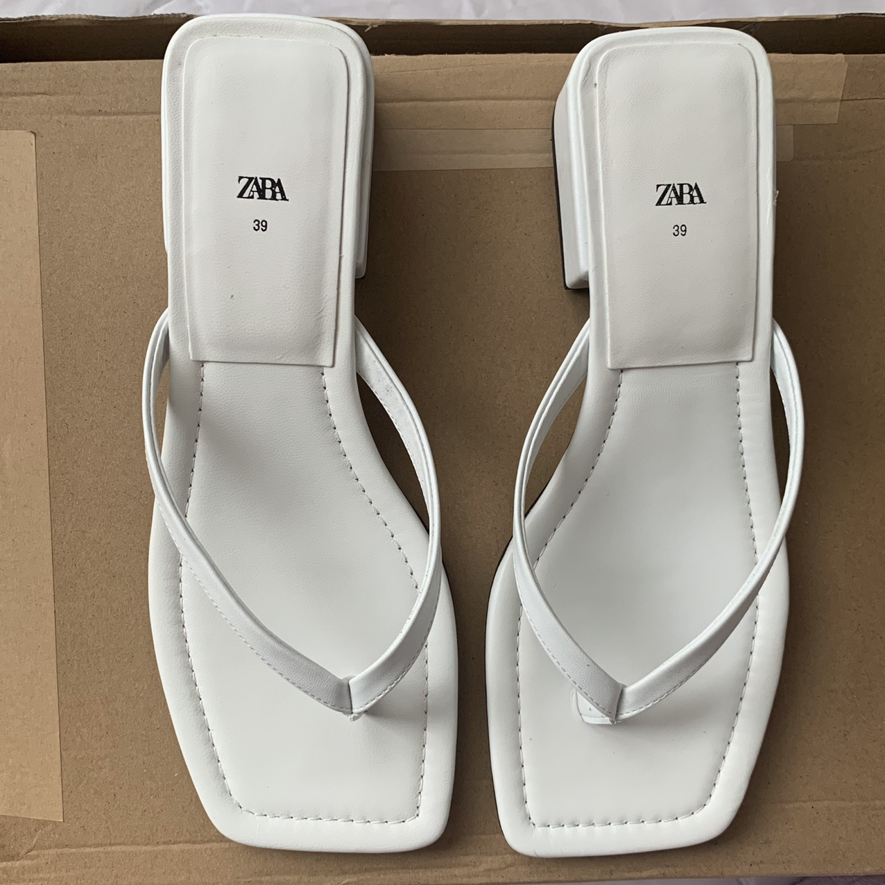 Product Image 1 - Zara White Sandals   The perfect