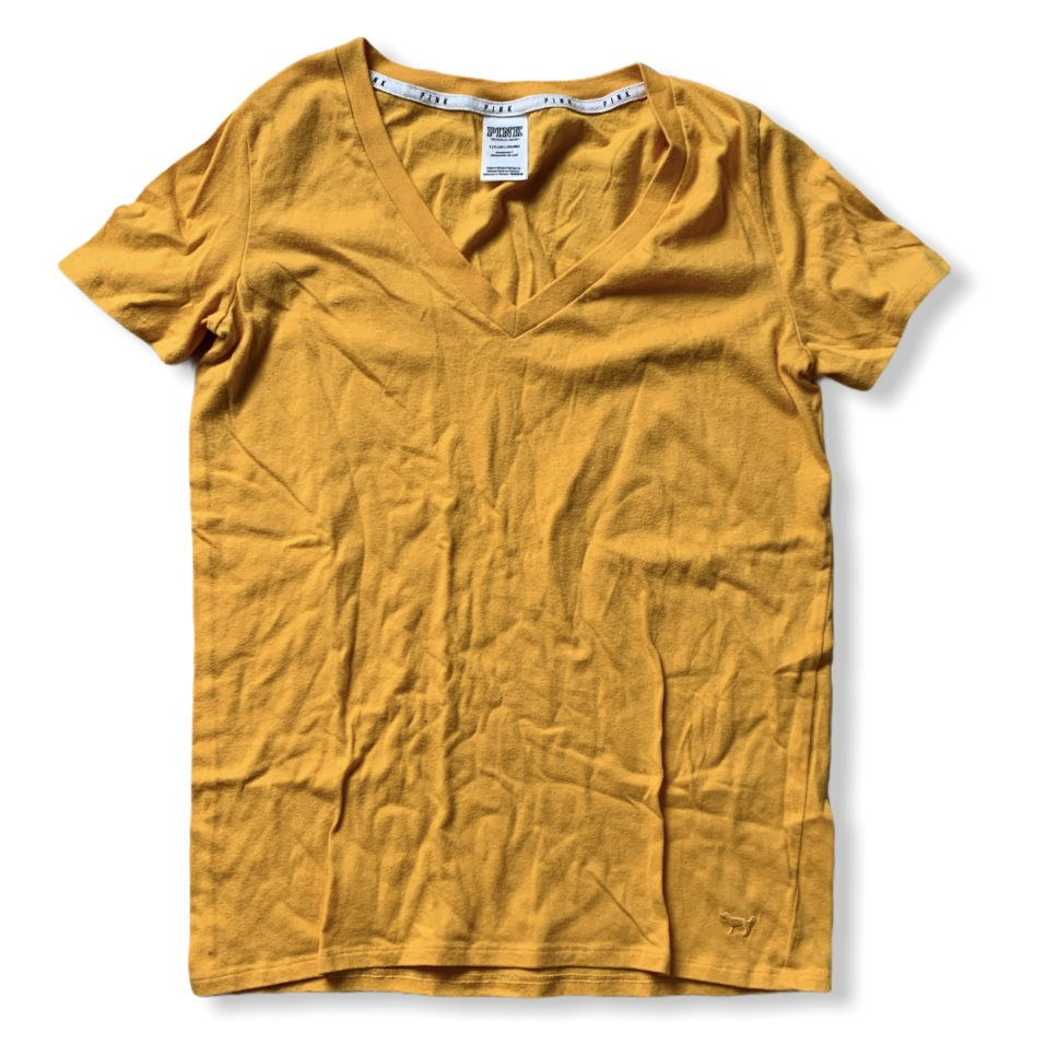 Product Image 1 - Yellow V-neck T-shirt from Victoria's
