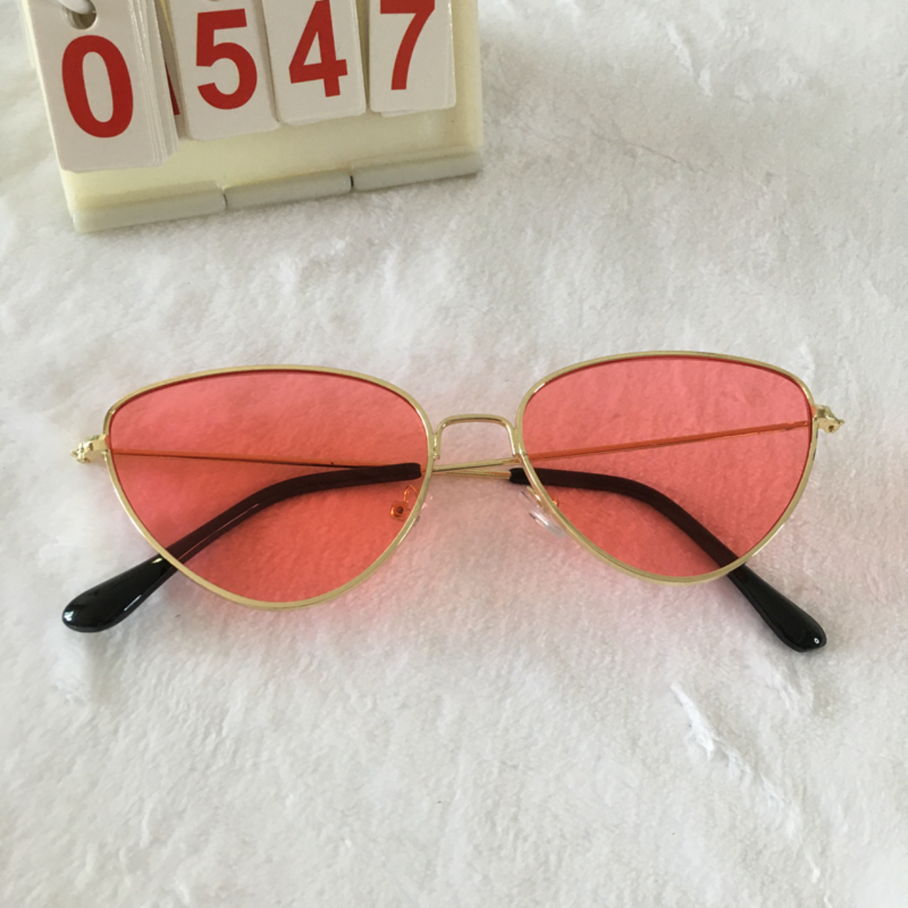 Product Image 1 - Punk Gold Frame Sunglasses --Ocean red
