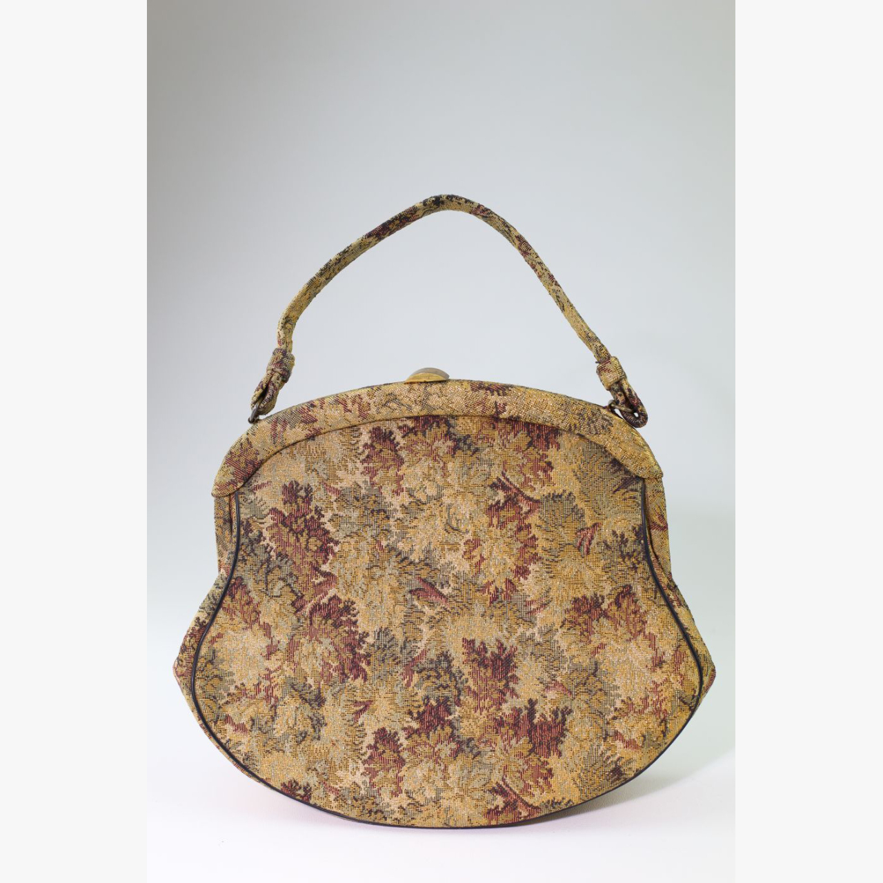 Product Image 1 - 1960's Gold Brocade Carpet Bag  This