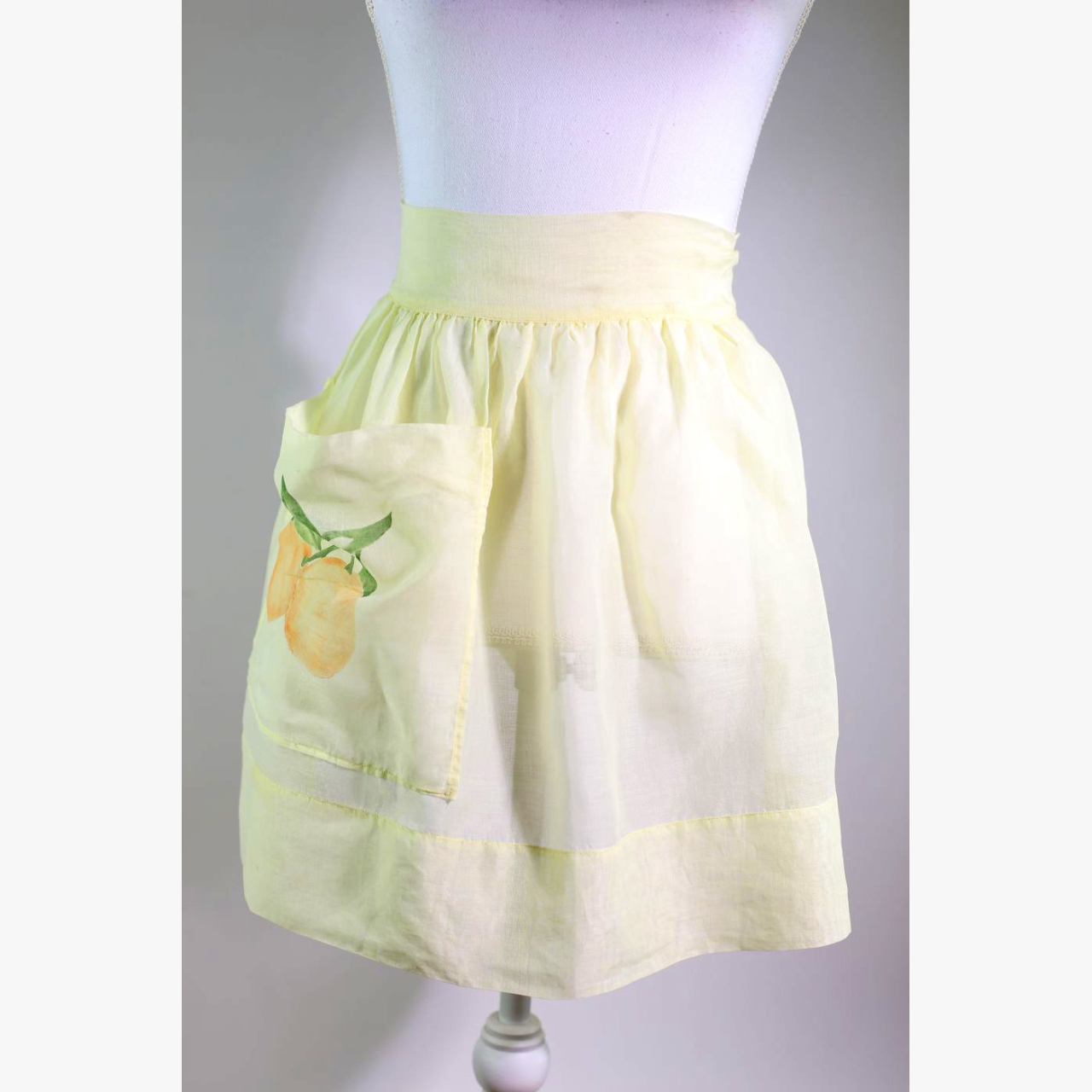 Product Image 1 - 1960's Butter Yellow Citrus Apron  A