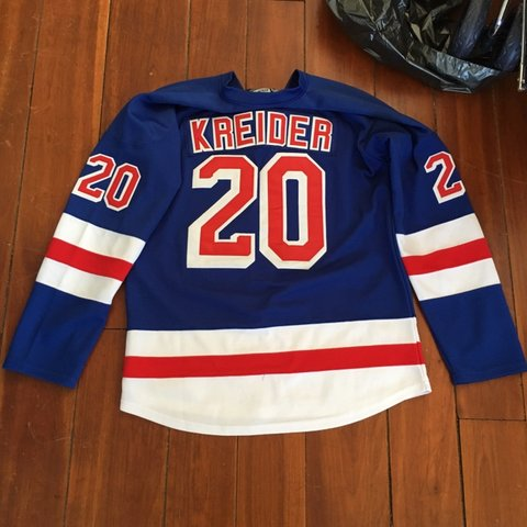 b02ed45d46f @big_cantelope. 4 days ago. Guilford, United States. Reebok NHL RANGERS  Chris Kreider Authentic Premier CCM Jersey size ...