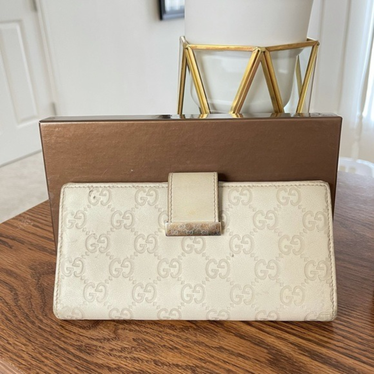 """Product Image 1 - Authentic Gucci Long Wallet 7.5""""x 3.5"""" Color"""