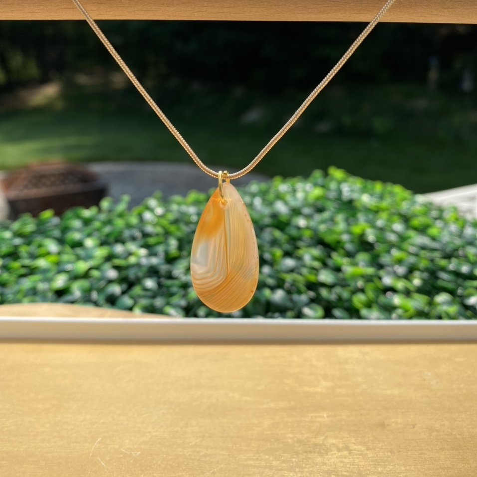 Product Image 1 - Carnelian Crystal necklace with 14k