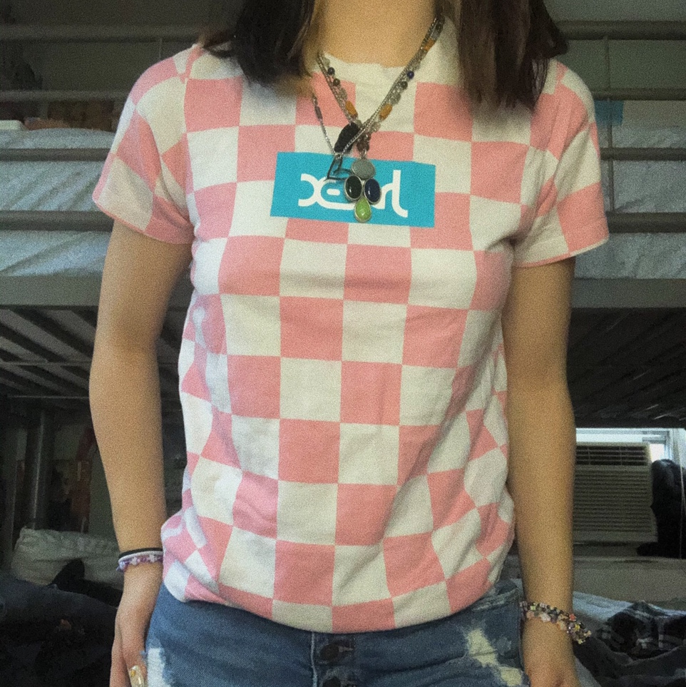 Product Image 1 - x-girl pink & white checkered