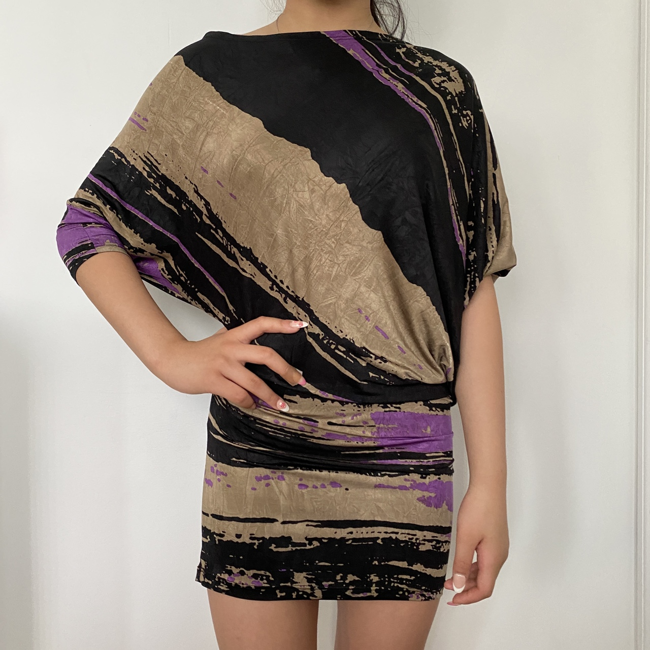 Product Image 1 - ABSTRACT VINTAGE PATTERNED DRESS/ SHIRT-