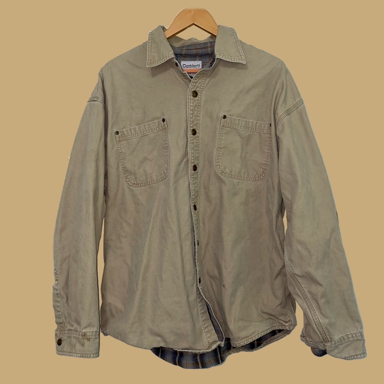 Product Image 1 - Heavy Carhartt Jacket Flannel Lined Size: X-Large *very