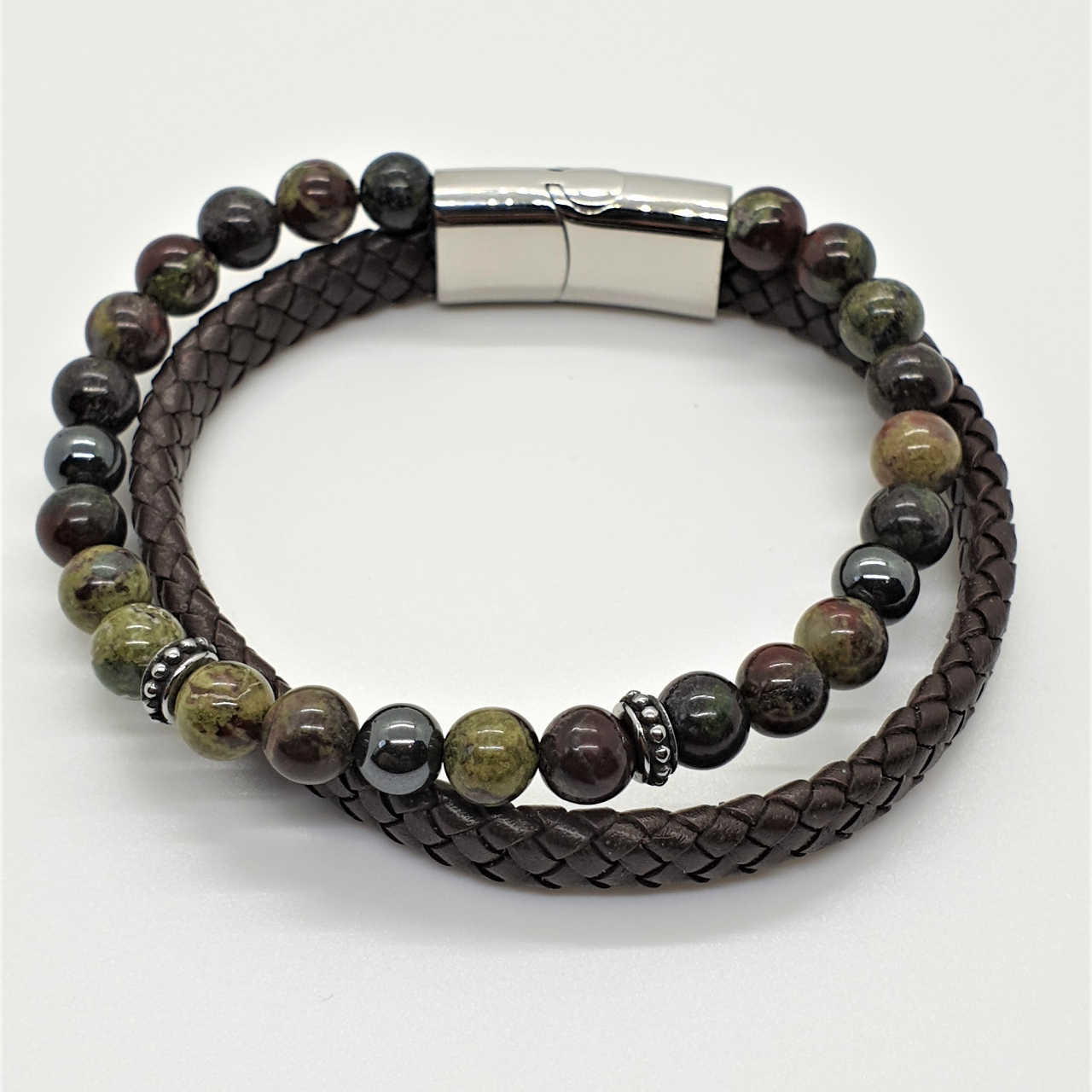"""Product Image 1 - """"Beads & Leather Bracelets for"""