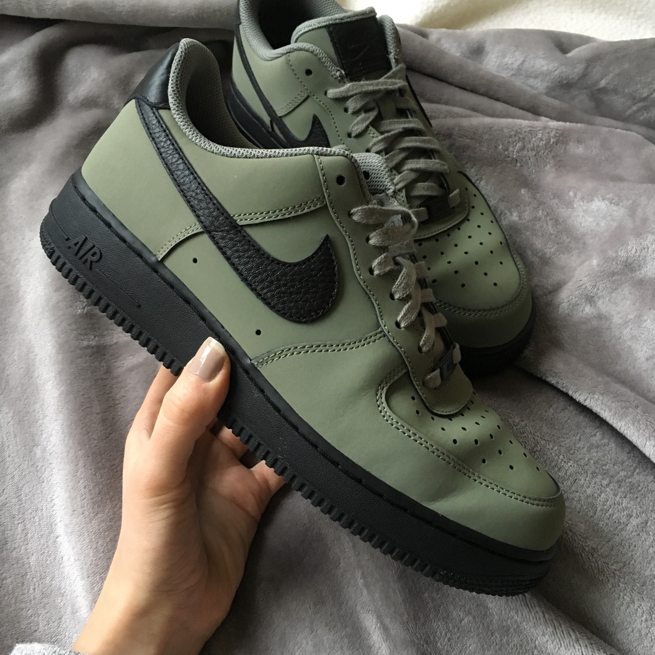 Nike Air Force 1 JD Exclusive Green size UK 8, used... - Depop