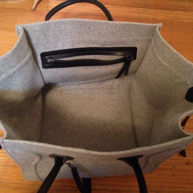 celine bag gray 6dfk  Authentic Celine Phantom handbag Gray wool   The 7catshop  Depop
