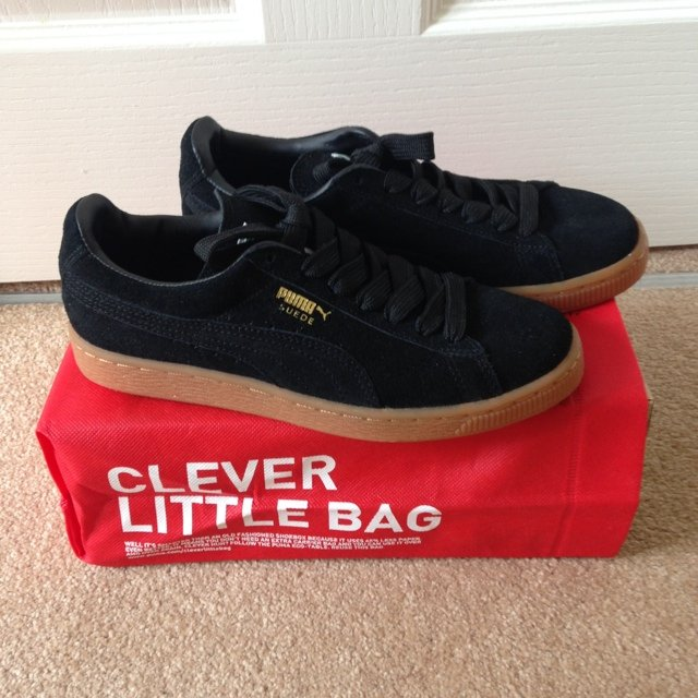 Puma Suede Black Gum Sole