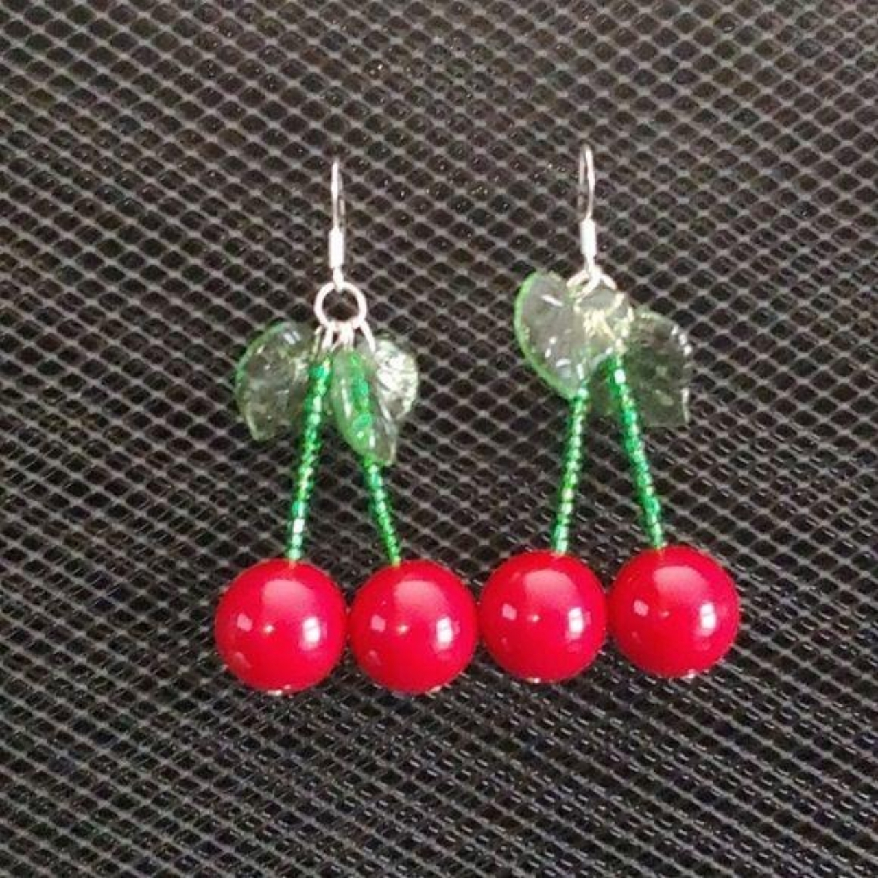 """Product Image 1 - """"Cherries"""" and translucent green leaves"""