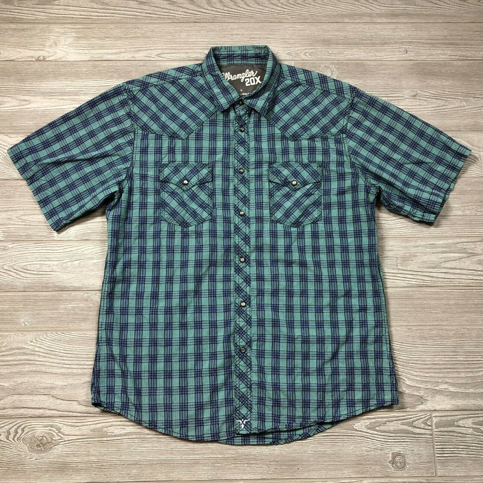 Product Image 1 - Wrangler 20X Plaid Pearl Snap
