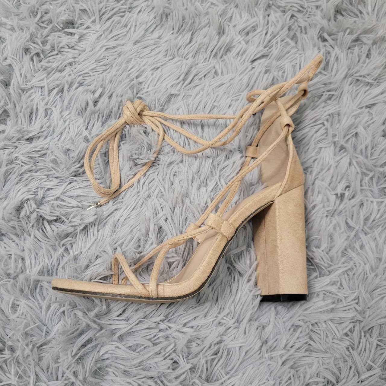 Product Image 1 - Suede, nude, lace up chunky
