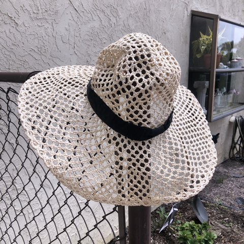d5a09ded @encriahi. in 22 hours. Carlsbad, United States. Topshop straw hat crochet hat  wide brimmed ...