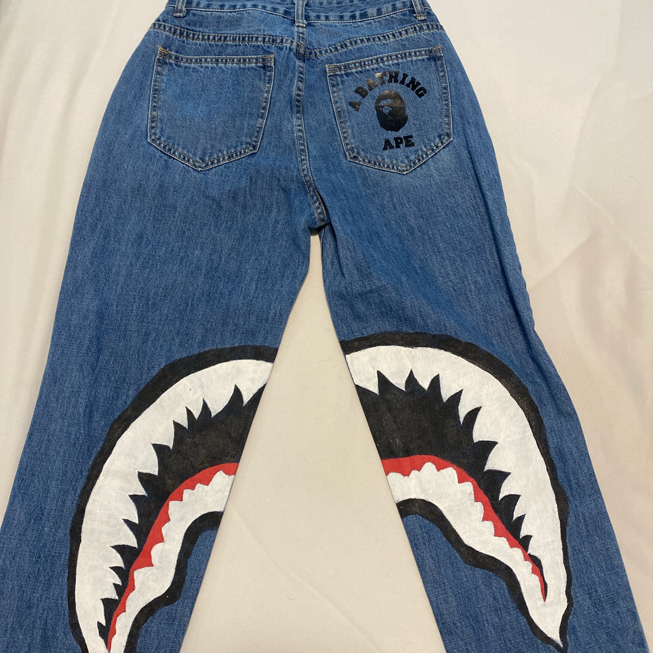 Product Image 1 - bape inspired jeans, hand painted,