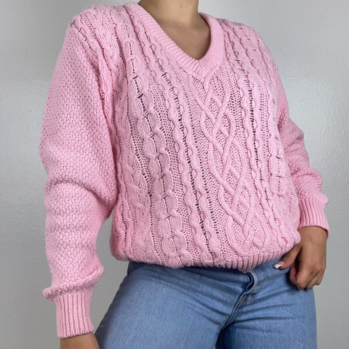 Product Image 1 - 90s knit pink sweater 🧸  The