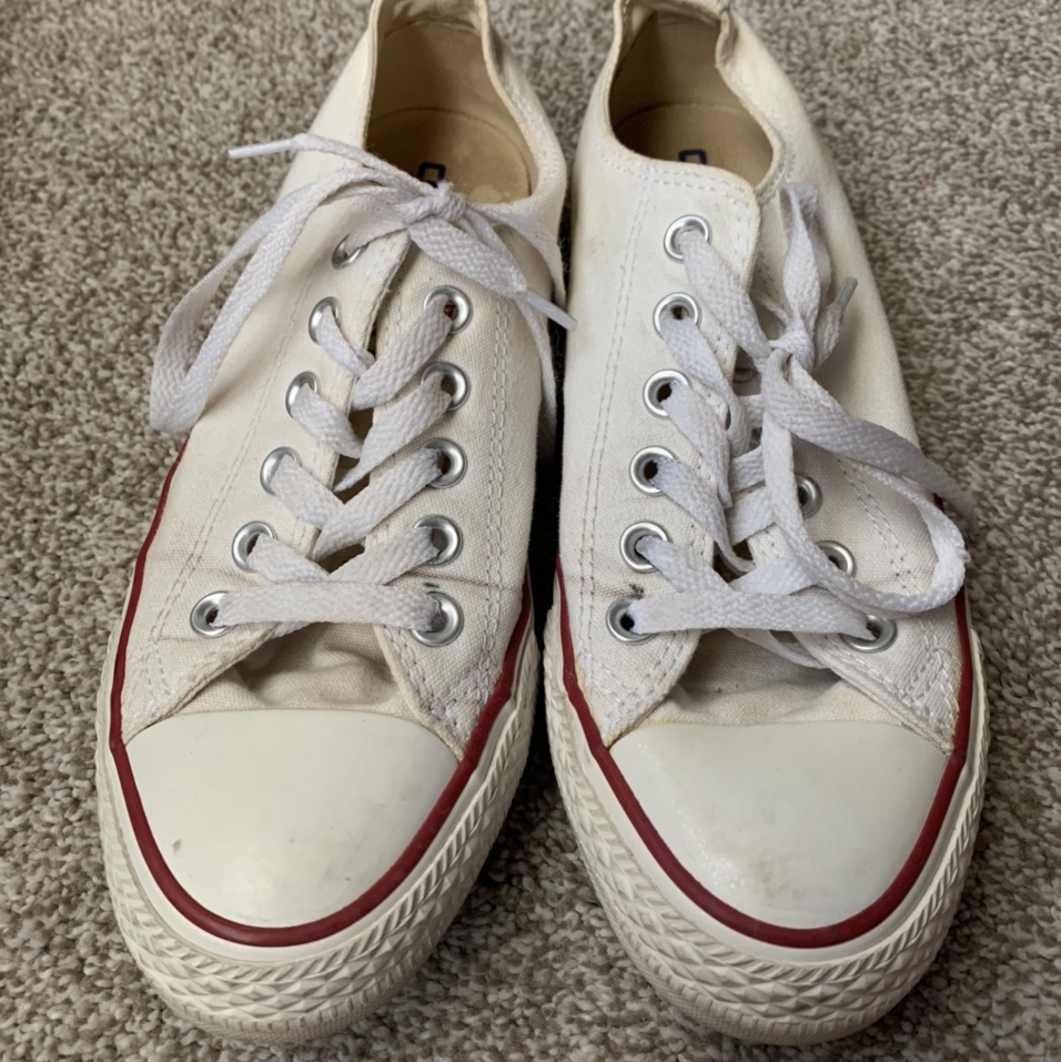 Product Image 1 - white converse. women's size 7,
