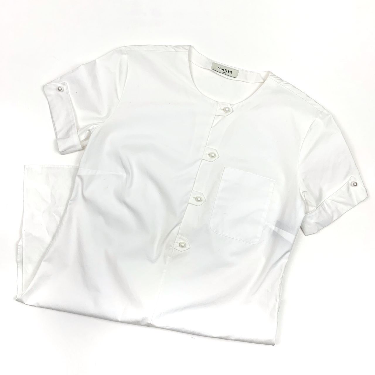 Product Image 1 - Mugler White Pearl Button Short