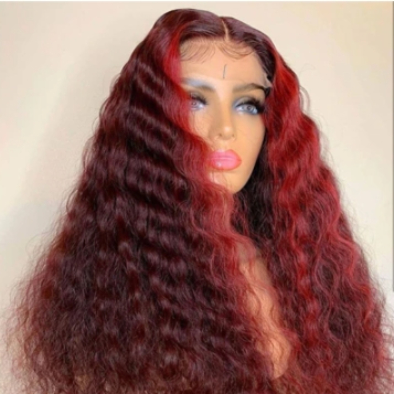 Product Image 1 - Deep Wave Burgundy with Red