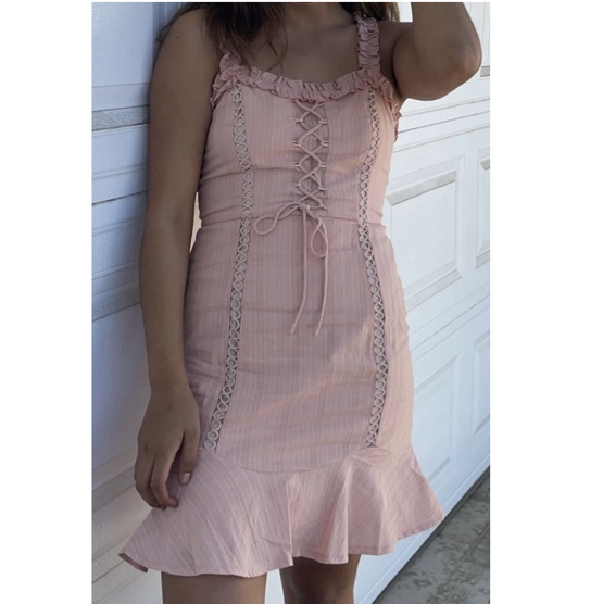 Product Image 1 - Pink Dress with ruffles on