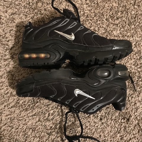 0901832464 @leyaspice. 7 days ago. Bartlett, United States. Nike Air max TN plus black  & silver shoes in 5.5 in kids ...