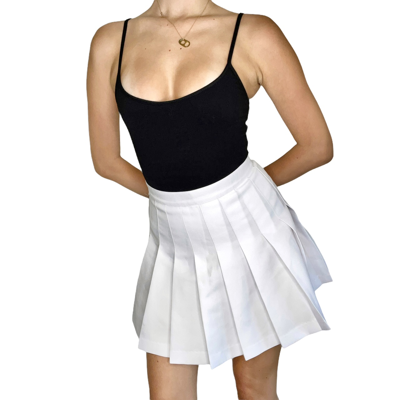 Product Image 1 - American Apparel White Tennis Skirt  The