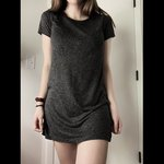 32e1568f51a t- shirt dress!!!💖 gucci belt not included🥰 very flowy and - Depop