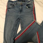 fff729f2 Zara Mid Rise Skinny Jeans Size 36 EUR Open to come on the a - Depop