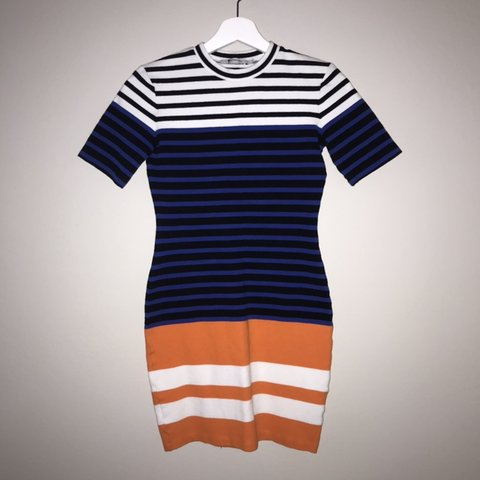 30248f1ed50fca T by Alexander Wang striped bodycon dress Perfect small and - Depop