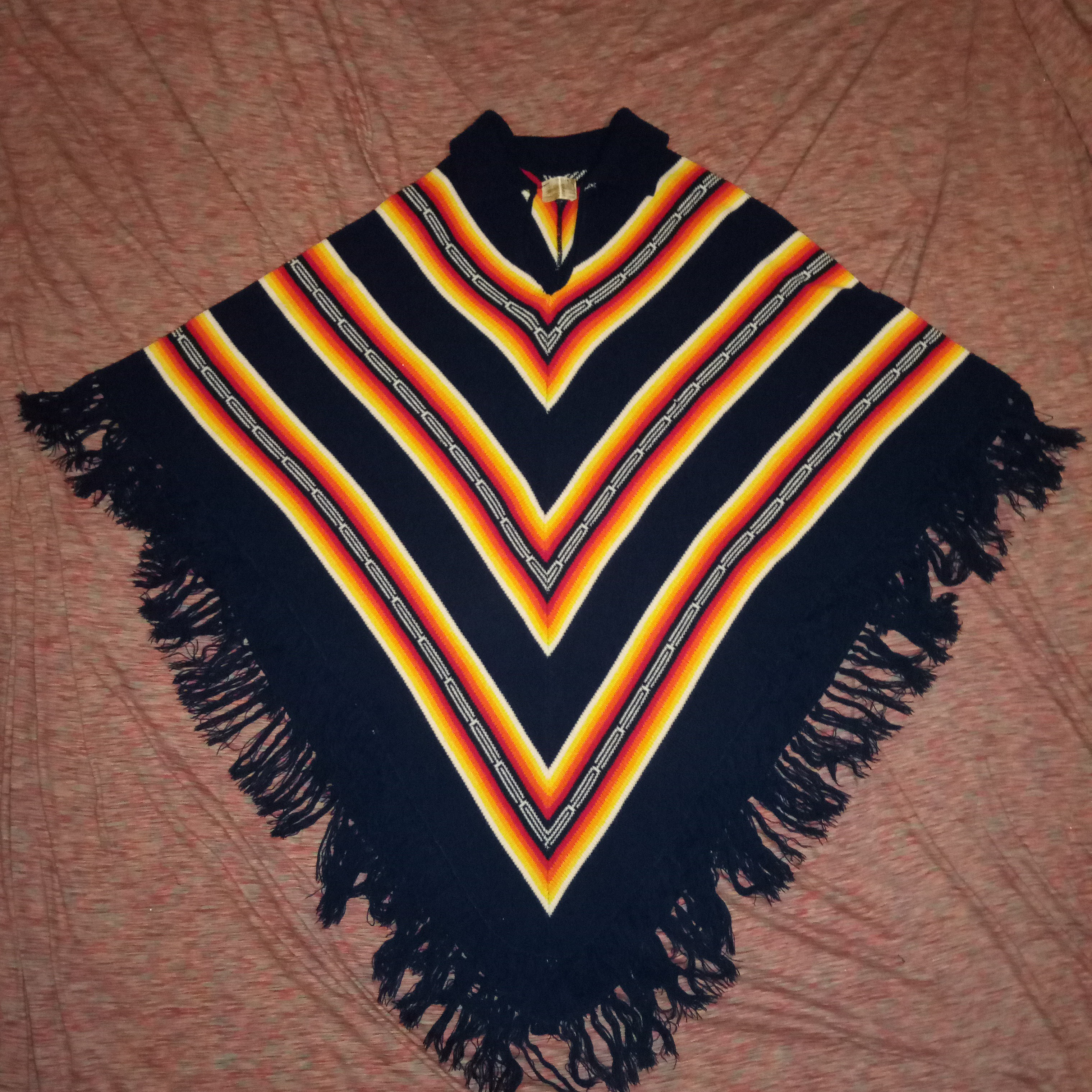 Product Image 1 - Beautiful all wool psychedelic poncho.