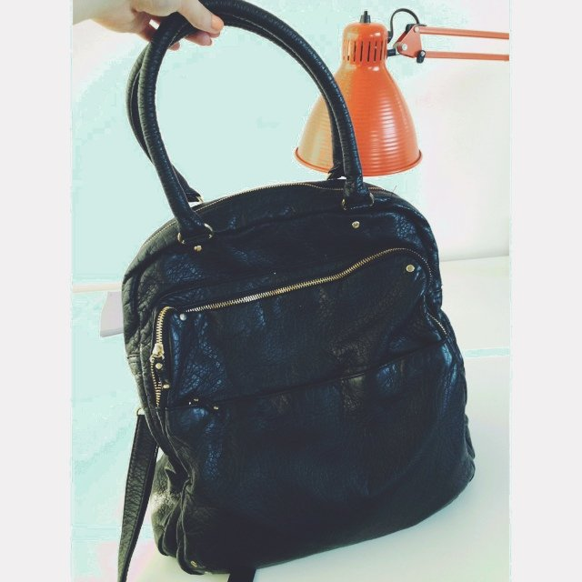 Topshop Black Leather Shoulder Bag 101