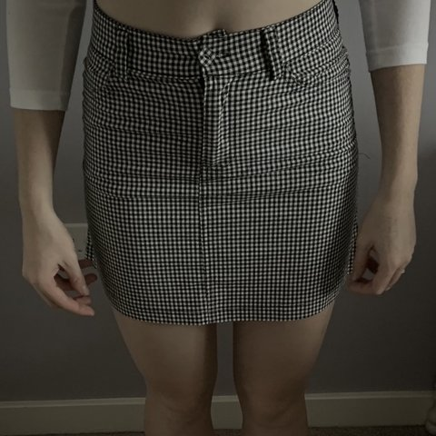 c3daa7de29 @eviesmailes. last month. Rugeley, United Kingdom. Black and white checked  skirt. Good condition.