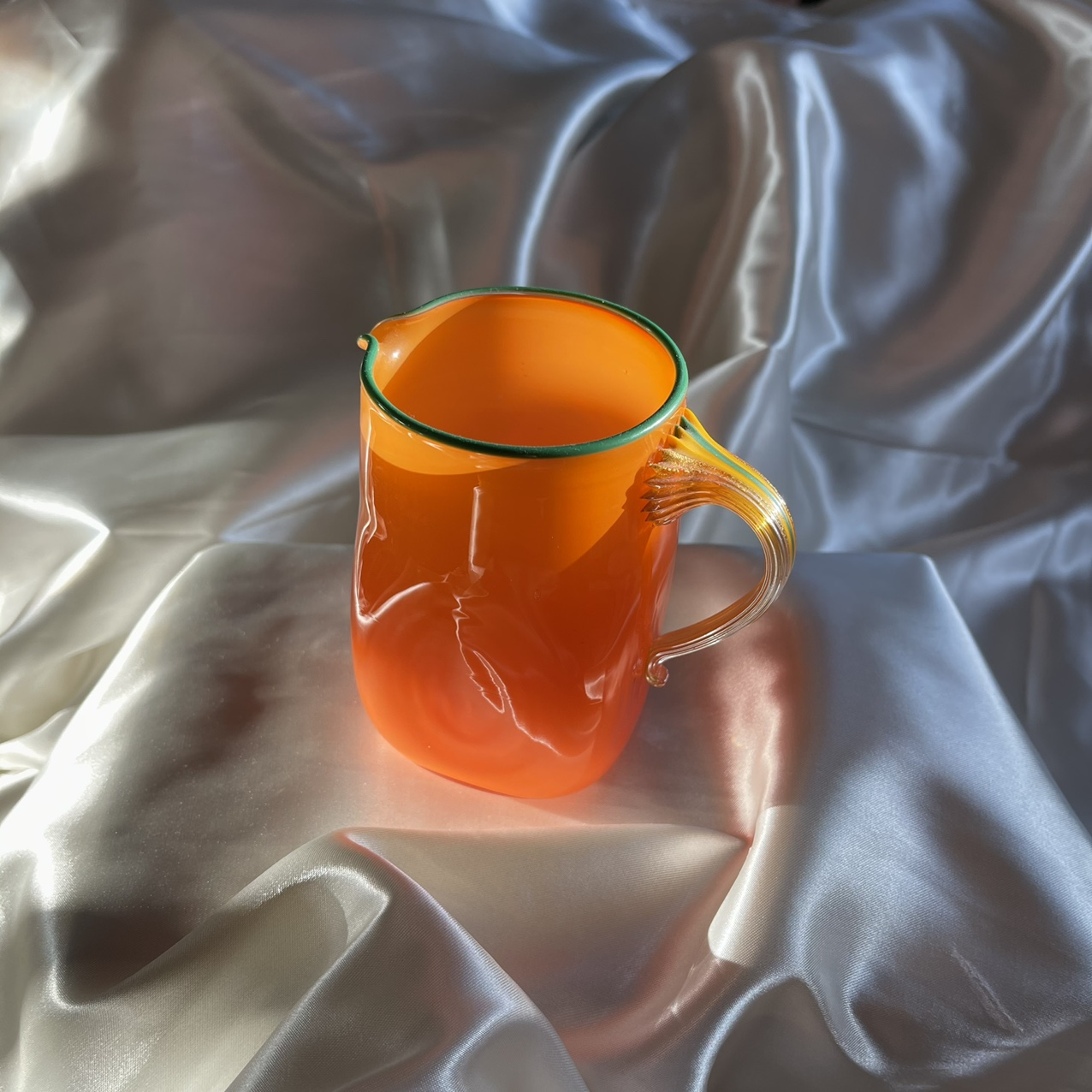 Product Image 1 - Vintage handmade blown glass cup