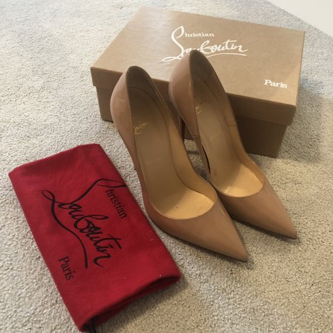 b6f84c007c @alicebrashaw. 10 days ago. United Kingdom ‼️REDUCED‼ Christian Louboutin  So Kate 120 Patent Pumps in Nude Only worn 3 times!
