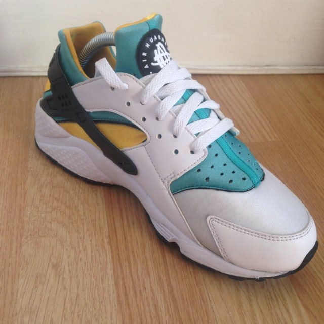 Nike Huarache Green And Yellow
