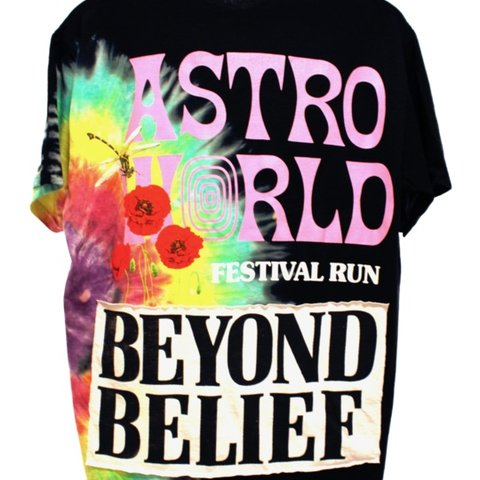 f108bb3e103b @wtfitsjayyy. last month. United States. TRAVIS SCOTT FESTIVAL RUN BEYOND  BELIEF TEE SIZE LARGE