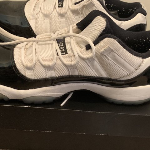 fb982cce5476 Retro Jordan 11 Low Concords Size 7y Slight yellowing of - Depop