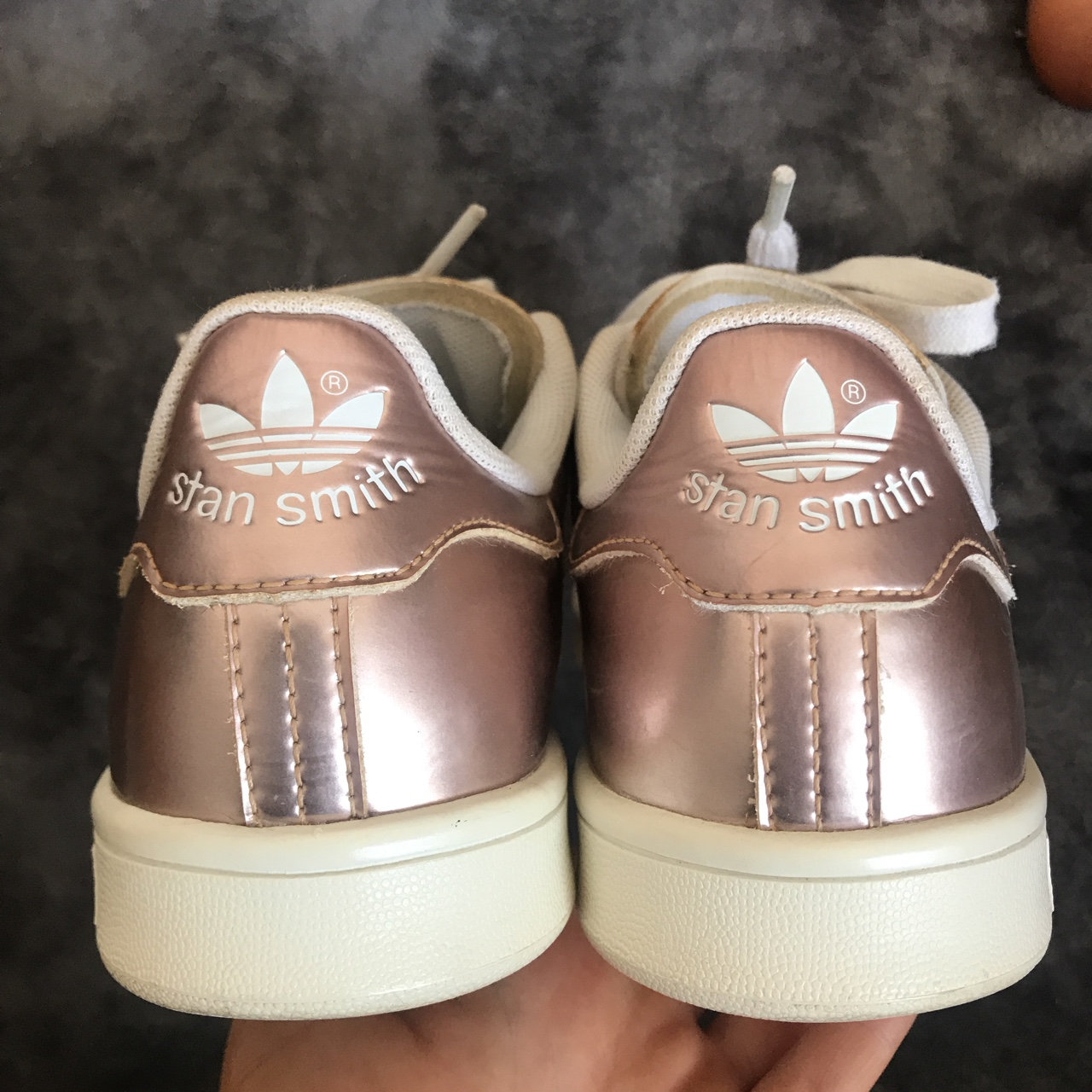 ADIDAS STAN SMITH rose gold trainers uk 5 good... - Depop