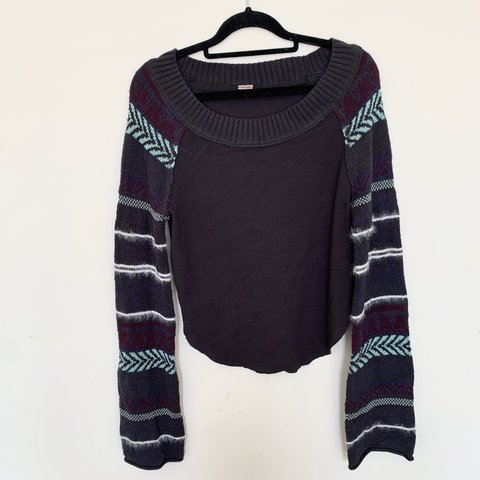 19474796 @nadiiakh. 16 days ago. London, United Kingdom. FREE PEOPLE Fairground  thermal top sweater