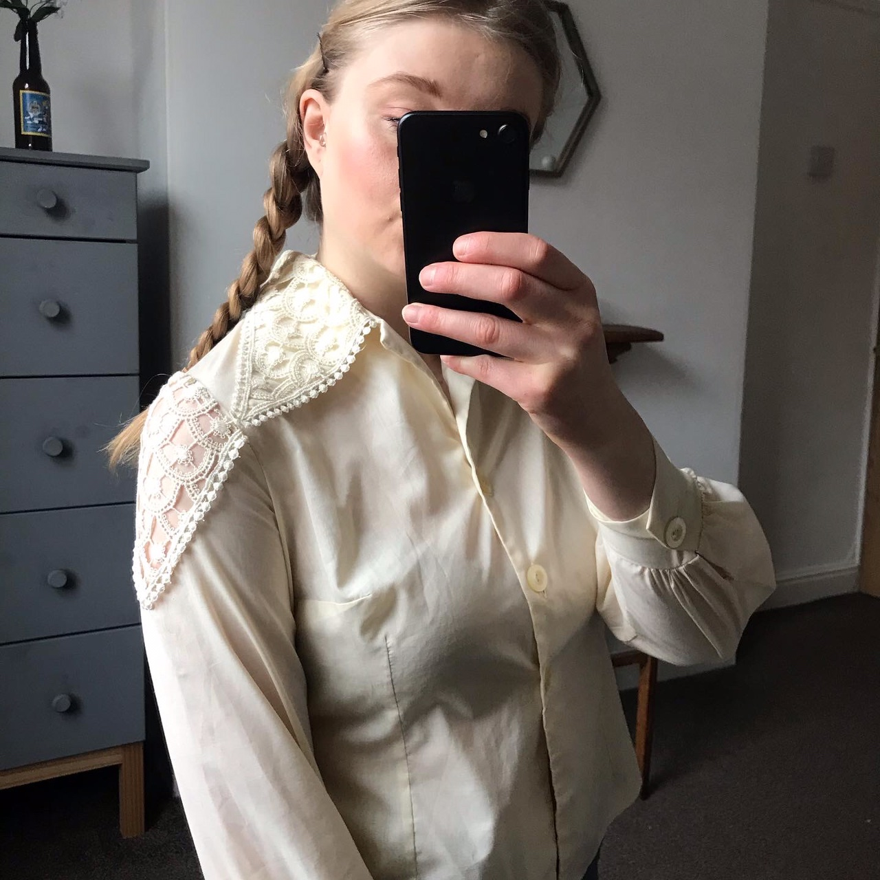 Product Image 1 - Stunning cream blouse with statement