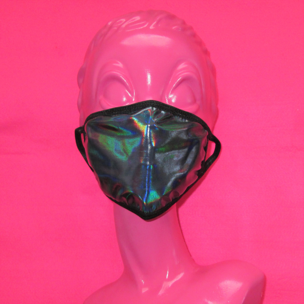 Product Image 1 - new black holographic face mask