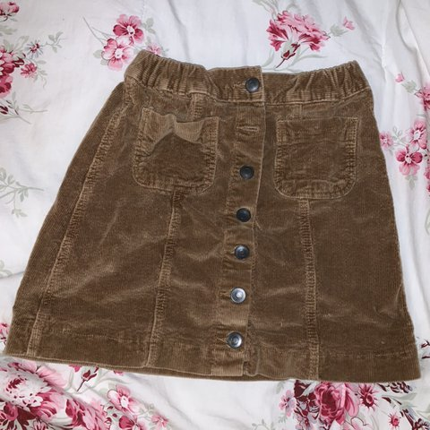 3ea6c00c4d 🖤condition: NWOT 🖤brandy melville brown corduroy skirt and - Depop
