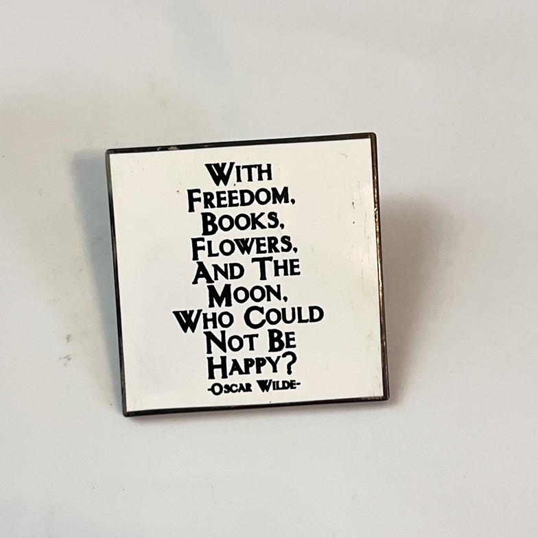 """Product Image 1 - Oscar Wilde pin - """"With"""